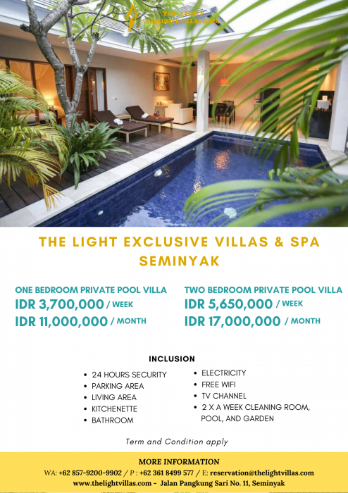 The Light Exclusive Villas and Spa Long TermRent