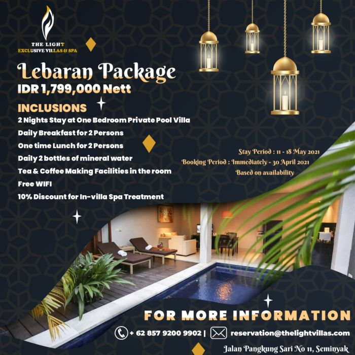 Eid Mubarak Deals The Light Exclusive Villas and Spa