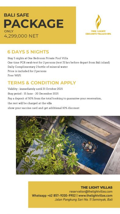 Bali Safe Package The Light Exclusive Villas and Spa